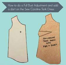 dress pattern without darts tutorial how to add a dart and an fba to an unshaped top