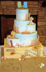 Cake Decorations Beach Theme - awesome beach wedding cake let them eat cake