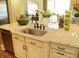 granite countertop kitchen cabinets glazed adhesive tiles