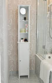 Corner Bathroom Storage Unit by Lydia White Tall Cabinet Crosley Furniture Cabinets Linen Towers