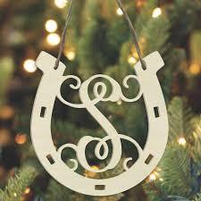horseshoe ornaments laser cut horseshoe ornaments unfinished wood co