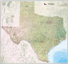 Mexico Wall Map Texas Map
