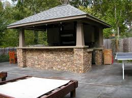 great covered outdoor kitchen island features curved shape kitchen