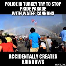 Lgbt Memes - police in turkey try to stop pride parade with water cannons