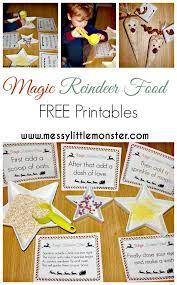 free printable reindeer activities magic reindeer food magic reindeer food reindeer food and magical