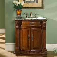 Countertop Cabinet Bathroom Silkroad Exclusive 33 Inch Single Sink Cabinet Bathroom Vanity