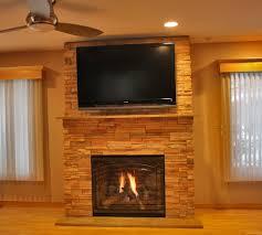 fireplace with stone surround interior design