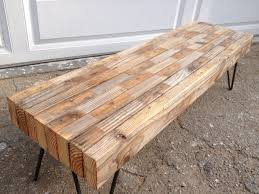 Diy Reclaimed Wood Side Table by Best 25 Industrial Bench Ideas On Pinterest Diy Industrial