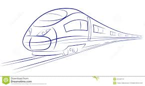 bullet train sketch pic how to draw a bullet train stepstep