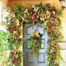 front doors decorations festal christmas entrance door