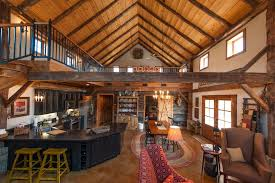 barn house pole barn house kitchen transitional with