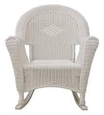 Patio Furniture Resin Wicker by Amazon Com Lb International White Resin Wicker Rocking Chair