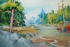 deep greens and blues are the colors i choose carol jessen s watercolor world june 2013