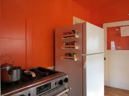 Orange Kitchen Accessories by Orange Kitchen Cabinet Design With Backsplash And Pendant Lamps