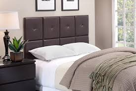 leather upholstered headboards amazon com foremost tessa tht 61013 pu brn fq 62 inch by 31 inch