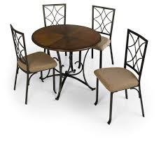 Metal And Wood Furniture 798 730 5 Piece Metal And Wood Dining Set Sears Outlet