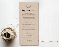 menu template wedding the 25 best wedding menu template ideas on wedding