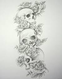 image detail for skull roses sleeve by daniellehope on