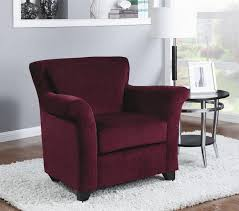 Burgundy Accent Chairs Living Room Chenille Accent Chair By Coaster 900304