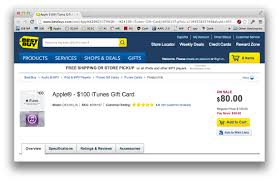 gift cards buy best buy again has 100 itunes gift card for 80