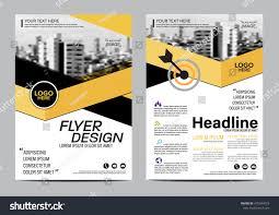 yellow flat modern brochure layout design stock vector 478344553