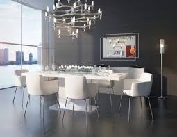 White Modern Dining Room Sets Shop The Elegant Palerma Extendable Dining Table In White