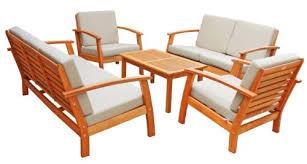 Wood Patio Furniture Sets Wooden Patio Furniture Luunguyen Virginia 5 Piece Hardwood Wood