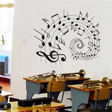 online get cheap music notes wall art aliexpress com alibaba group new music notes pvc removable room art diy wall sticker mural home decor china