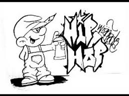 draw smurf graffiti