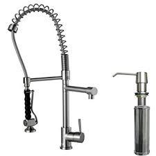 Kitchen Faucet With Spray by Vigo Zurich Single Handle Pull Down Spray Kitchen Faucet With Soap