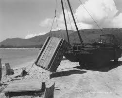 amphibious vehicle duck amphibious dukw duck with crane on biak beach 1944 world war photos