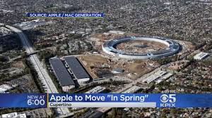 apple u0027s enormous spaceship campus nears completion cbs san francisco