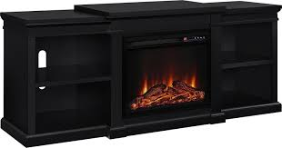 Black Electric Fireplace Ameriwood Home Manchester Electric Fireplace Tv Stand