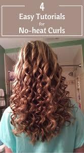 4 easy tutorials for no heat curls tutorials hair and beauty