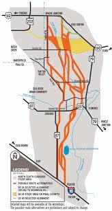 Arizona Highway Map by North South Highway Corridor Presented To Public Arizona