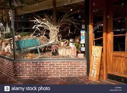 thanksgiving window display plymouth ma stock photo