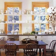 ideas for kitchen shelves open kitchen shelves and stationary window decorating ideas