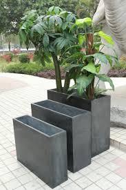 rectangle flower pot inspiring style for long dark brown