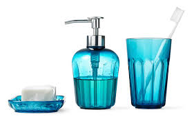 Turquoise And White Bathroom Accessories Bathroom Accessories - White plastic bathroom accessories