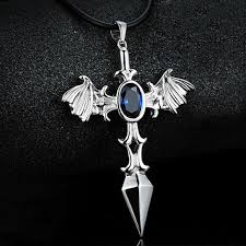 cross skull necklace images New fashion alloy jewelry flame fire cool cross cruel men men 39 s jpg