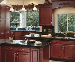Canyon Kitchen Cabinets by Canyon Creek Cornerstone Shalimar In Red Oak With Cordovan Stain