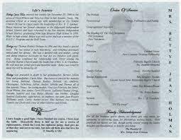 Paper For Funeral Programs Funeral Program For Bettye Jean Holman October 8 2007 The