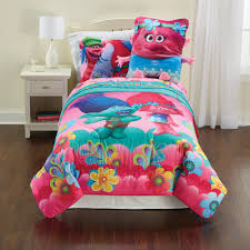 twin bed in a bag sets for girls dreamworks trolls life twin comforter