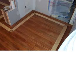 wood floor with maple boarder and coner blocks customer ideas