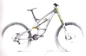 drawn bicycle mountain bike pencil and in color drawn bicycle