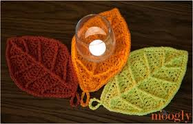 free crochet patterns for home decor happy autumn leaves free crochet pattern on moogly