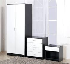 ikea uk versace inspired white high gloss amp silver bedside cabinet