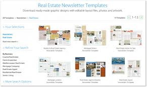 templates for newsletters 12 best real estate newsletter template resources placester