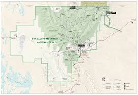 Georgia State Parks Map by Guadalupe Mountains Maps Npmaps Com Just Free Maps Period