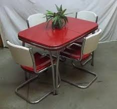 Retro Red Kitchen Chairs - buy vintage 50 u0027s 60 u0027s kitchen table and chairs at furniture